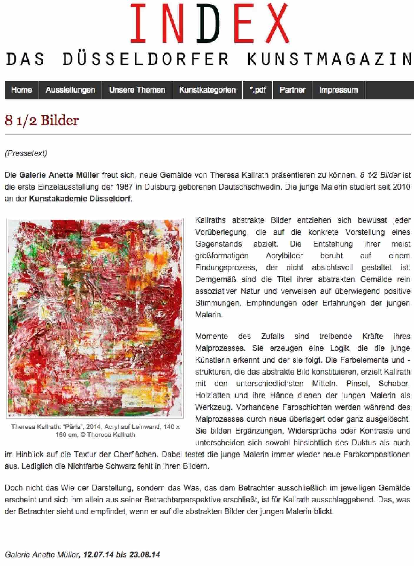 INDEX Magazin Das Düsseldorfer Kunstmagazin